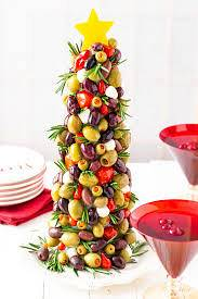 Olive Tree Appetizer Creating A Christmas Tree Made Of Olives
