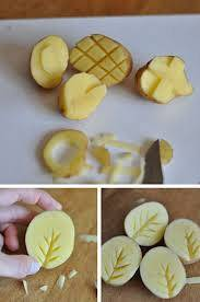 potato stamp art
